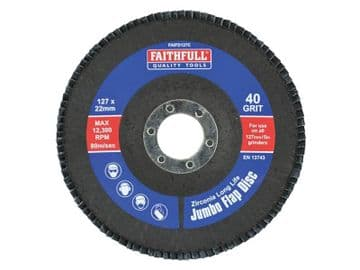 Abrasive Jumbo Flap Disc 127mm Fine